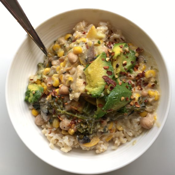 vegan corn chowder recipe at nutritionbliss.com