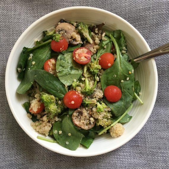 vegan quinoa side salad recipe at nutritionbliss.com
