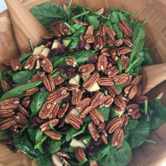 apple pecan spinach salad recipe image