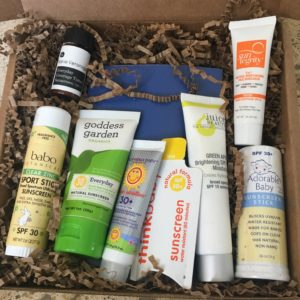 Natural sunscreen samples