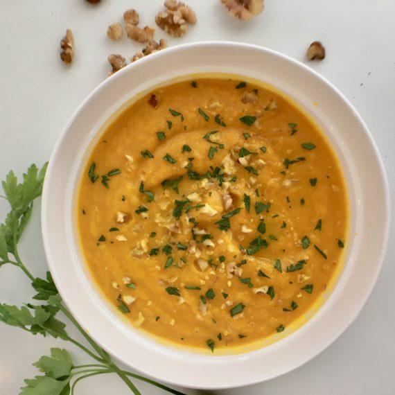 paleo, vegan, gluten free carrot ginger soup