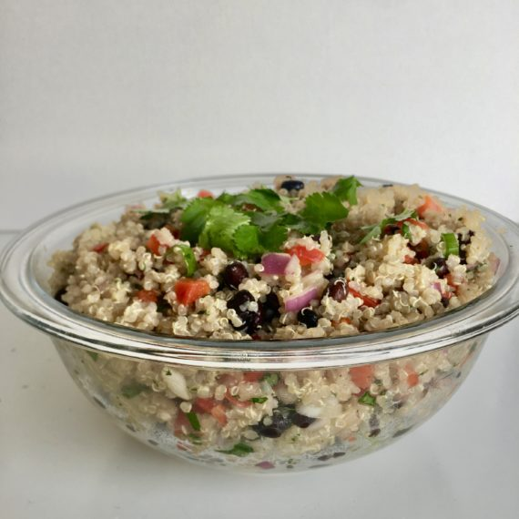 quinoa black bean salad recipe with cilantro